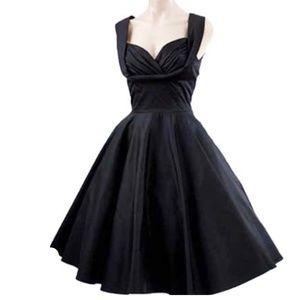 Trashy Diva Black Honey Swing Dress VLV Pinup 50s